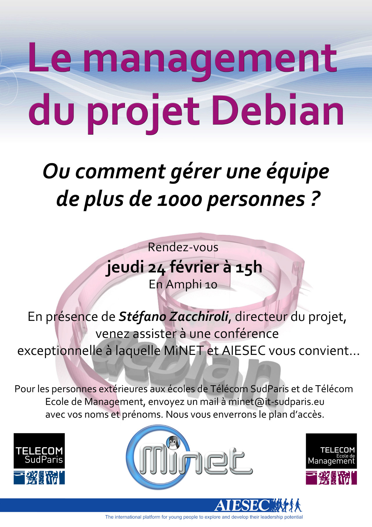 Affiche de la confrence